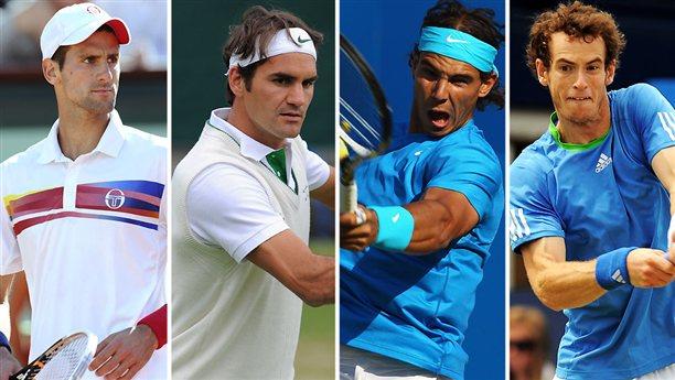 Rafael nadal , Roger federer , Novak Djokovic and Andy murray in Roland Garros, French Open 2016